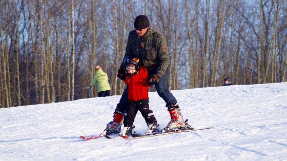 narty z dzieckiem